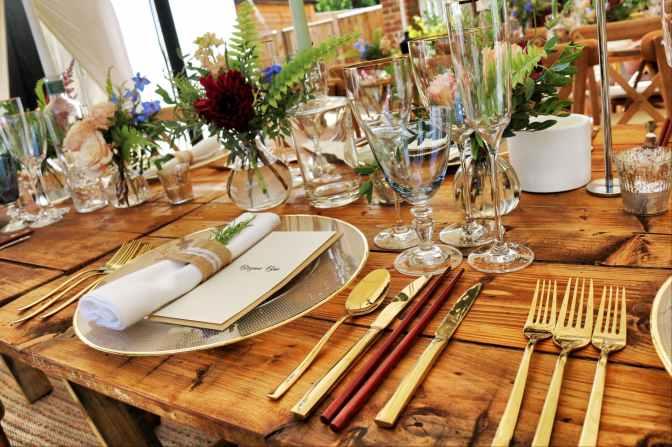 dinnerware on table top