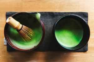 two round ceramic pots