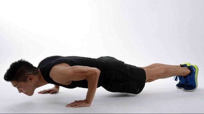 adult athlete body exercise